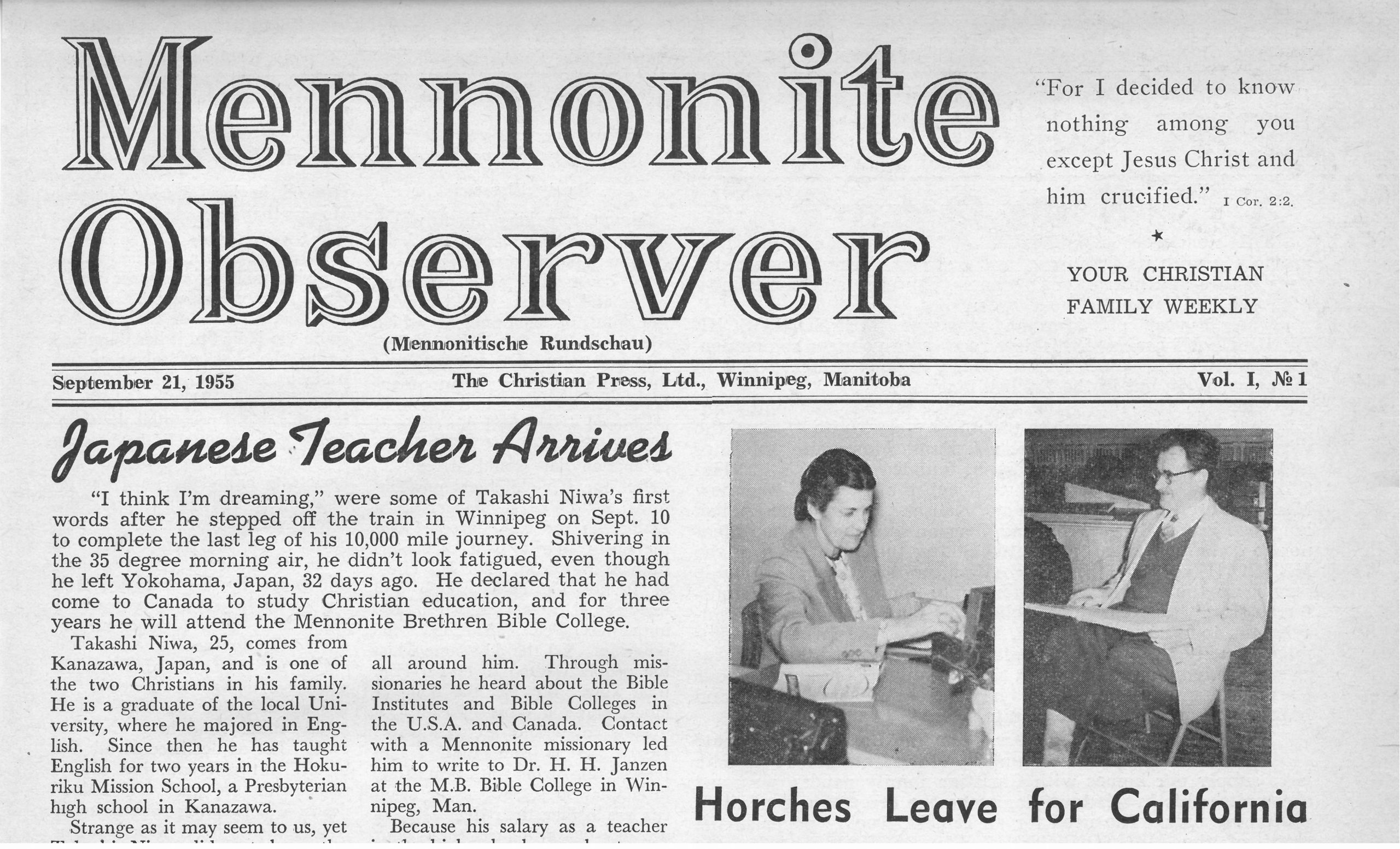 1950s Mennonite newspaper now viewable online
